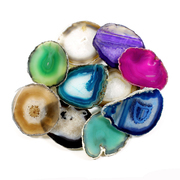 "Agate Slice Assorted Colours 3.5""- 4"""