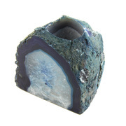 Agate T-Light Votive Holder Blue