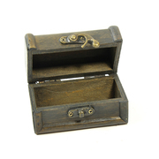 Vintage Style Wooden Treasure Chest Small