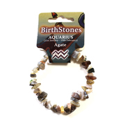 Birthstone Chip Bracelet Aquarius - Agate