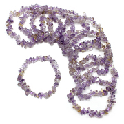 Ametrine Crystal Chip Stretch Bracelet