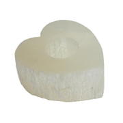 Selenite Heart T-Light Holder
