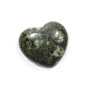 Preseli Bluestone of Stonehenge Puff Heart 40mm