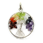 Tree of Life - Chakra Silver Plated Pendant