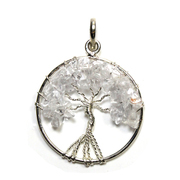 Tree of Life - Quartz Silver Plated Pendant