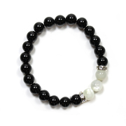 Black Agate and Moonstone Bracelet