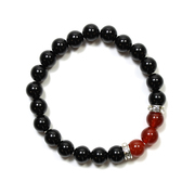 Black Agate and Red Agate Bracelet
