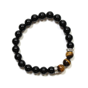 Black Agate and Tiger Eye Bracelet
