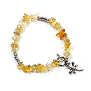 Citrine Chip Bracelet with Charm