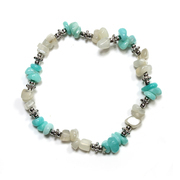 Amazonite and Moonstone Chip Bracelet