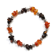 Carnelian and Red Tiger Eye Chip Bracelet