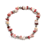 Pink Opal and Rhodonite Chip Bracelet