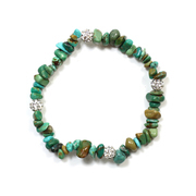 Chinese Turquoise Chip Bracelet