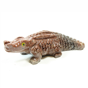 Soapstone Crocodile Carving 65mm