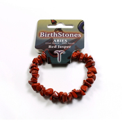 Birthstone Chip Bracelet Aries - Red Jasper
