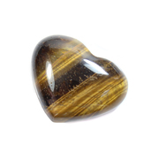 Tiger Eye Mini Gemstone Heart