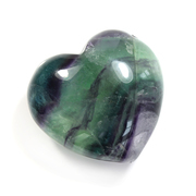 Fluorite Gemstone Puff Heart