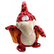 Podgeys Soft Toy Dinosaur Red