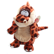 Podgeys Soft Toy Dinosaur Brown