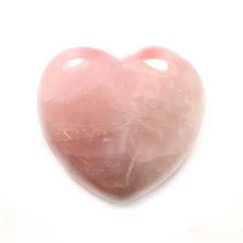 Rose Quartz Gemstone Heart Large