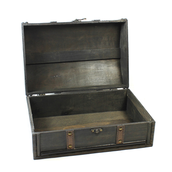 Vintage Style Wooden Treasure Chest Large
