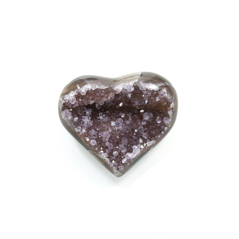 photo of Amethyst Druzy Gemstone Heart