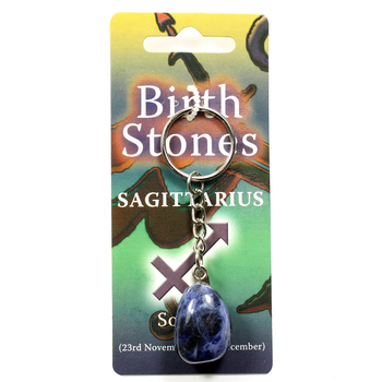 photo of Birthstone Keyring Sagittarius - Sodalite