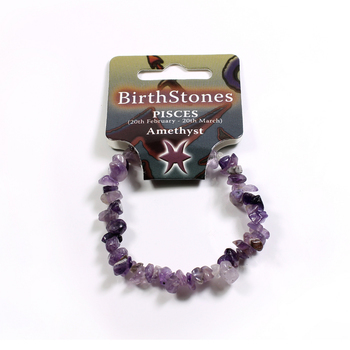 photo of Birthstone Chip Bracelet Pisces - Amethyst