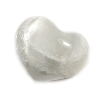 Selenite Gemstone Heart Large