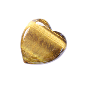 Tiger Eye Puff Heart 35x35x10mm