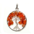 Tree of Life - Carnelian Silver Plated Pendant
