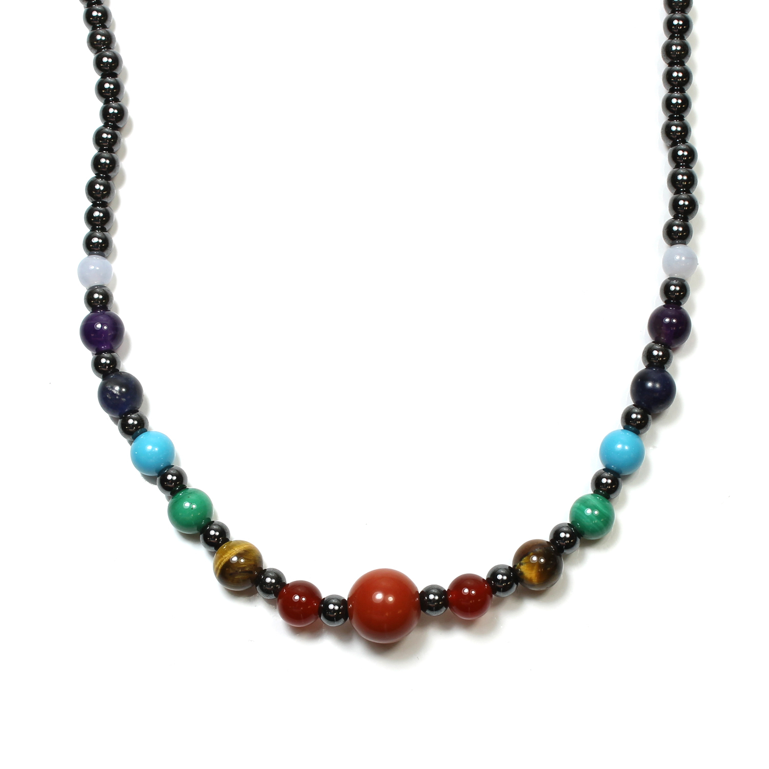 Hematite Magnetic Chakra Necklace