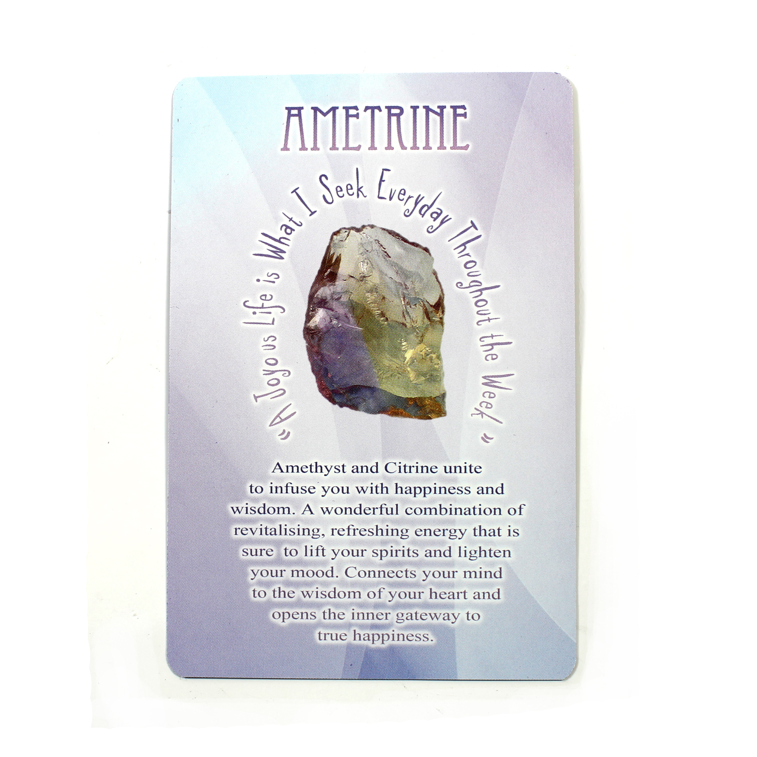 Messages from Mother Earth - Ametrine
