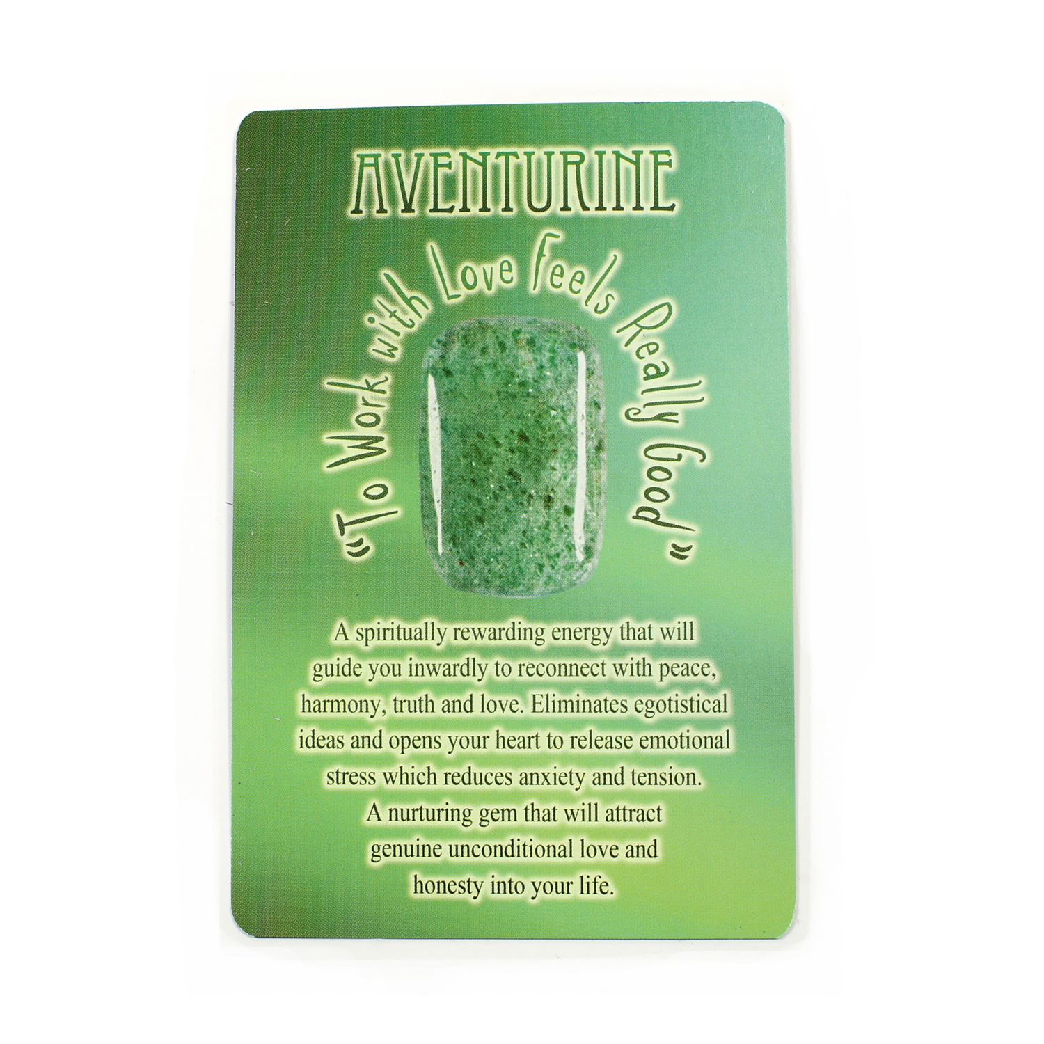 Message from Mother Earth - Green Aventurine