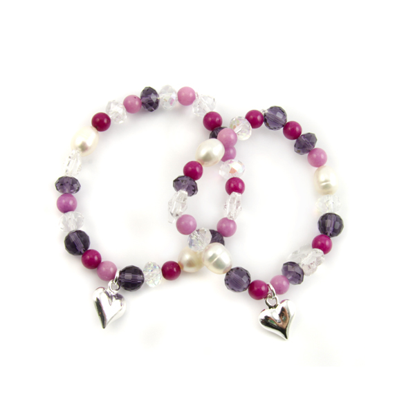PipKits Stretch Bracelet Charm Kit Purple