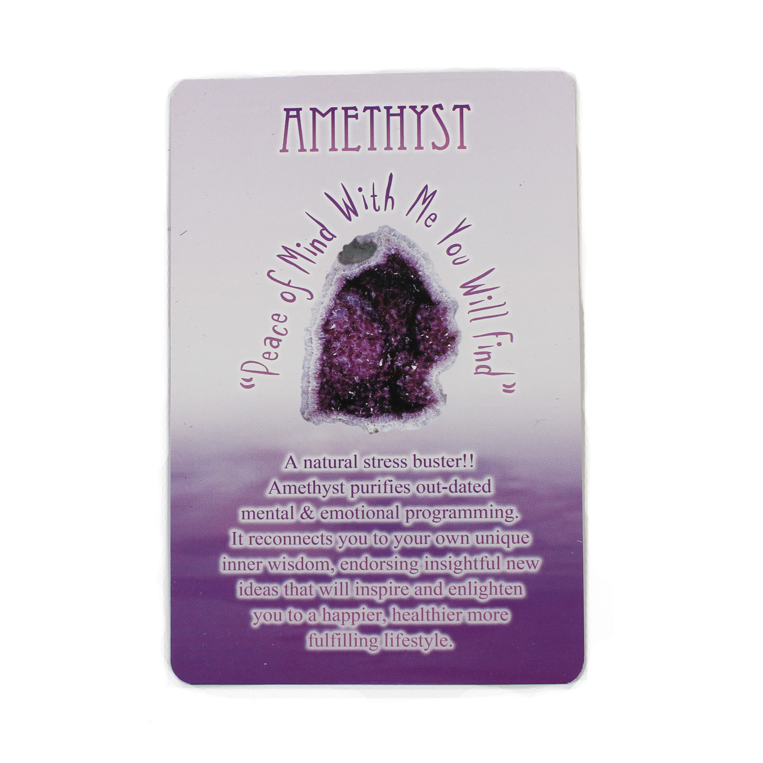 Messages from Mother Earth Amethyst