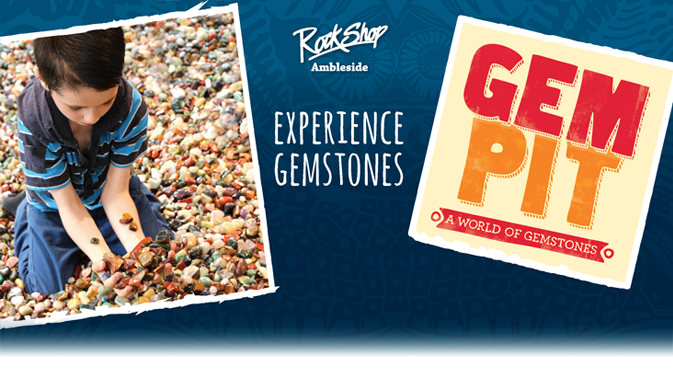 Experience Gemstones with the RockShop Gem Pit